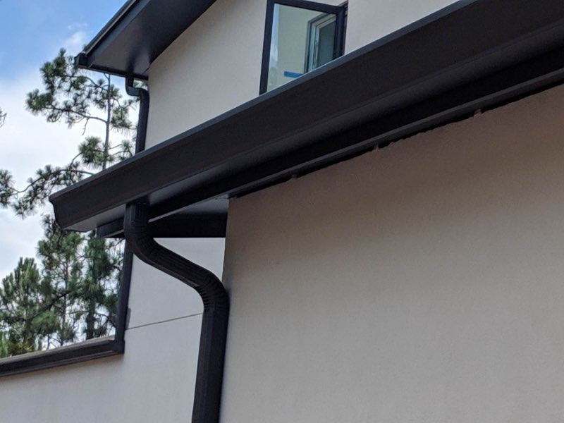 Residential Ogee Gutter Turning Leaf Custom Homes